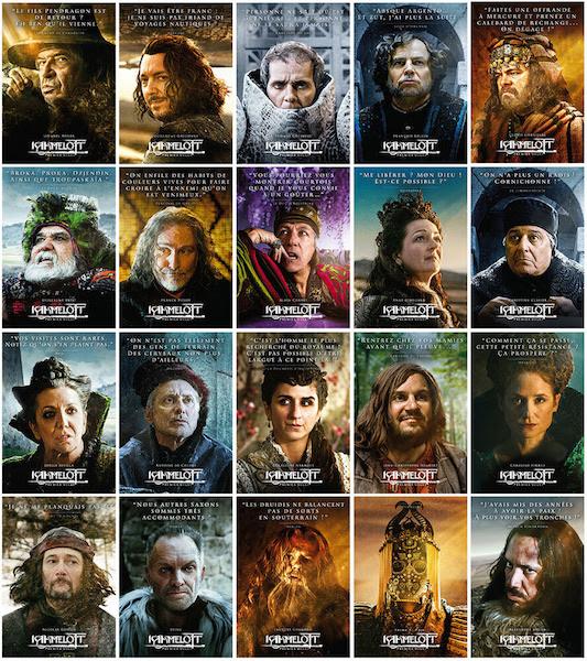 Kaamelott - affiches portraits des personnages