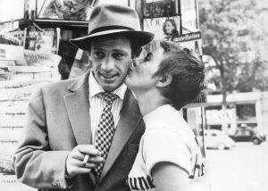 Jean-Paul Belmondo et Jean Seberg - A bout de souffle de Jean-Luc Godard