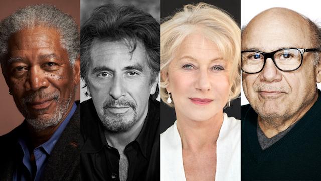 Morgan Freeman, Helen Mirren, Al Pacino et Danny DeVito - Sniff